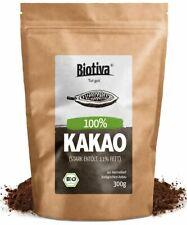 Roh Kakao Pulver Bio 400g | Organic Raw Cacao Powder | 100% Rohkost, Natürlic