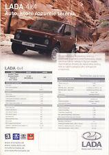 2017 MY Lada 4x4 10 / 2016 catalogue brochure Slovakia Slovaquie Niva