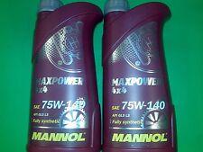 2 Liter (2x1) MANNOL Maxpower 4x4 75W-140 API GL 5 LS Getriebeöl Limited Slip LS