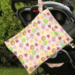Washable Baby Nappy Storage Bag Diaper Bag Wet Dry Cloth With Zipper Waterproof