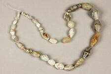 32 ancient rock cristal and agate beads (Mali)