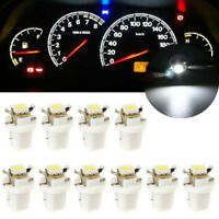 10X T5 B8.5D Gauge 5050 LED Car Dashboard Dash Side Lights Bulbs Indicator White
