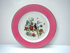 Vintage Syracuse China ART STUDIO O P Co Dinner Plate BIRD OF PARADISE Pink