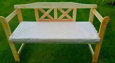 Outdoor Replacement 2 Seater Bench / Swing Seat Cushion Garden Furniture Pad Cream