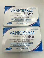 2 Pack Vanicream Z-Bar medicated cleansing bar for sensitive skin 3.36oz