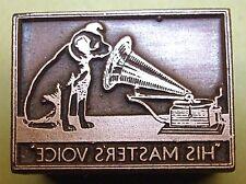 """HMV"" (His Masters Voice) ADVERT. PRINTING BLOCK."