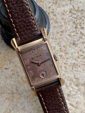 Vintage Bulova Mens Watch 10k GF Case Fancy Lugs and Salmon Dial