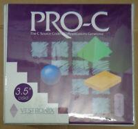 PRO-C, by Vestronix. C source code applications generator. IBM 3.5'' unused