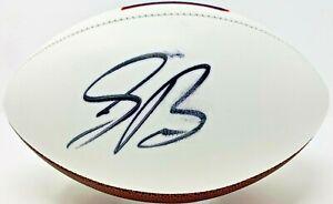 New York Giants Saquon Barkley Signed Logo Football Auto Fanatics Hologram