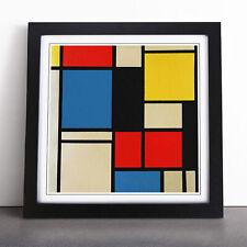 Piet Mondrian Lithograph Framed Wall Art Picture Print Home Décor