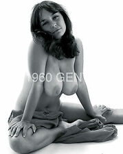 BUSTY BIG BREASTS NUDE BARBARA MILLS CARON 1960s 8X10 PHOTO FROM ORIGINAL NEG-1