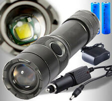 New 5000LM LED Rechargeable Zoom Flashlight Torch + 18650 Battery + US Charger
