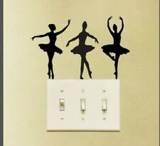 Ballet dancers light switch decal sticker girl dance studio home decor