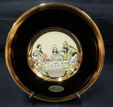 Jesus Last Supper 24KT Gold Gilding Beautiful Display Plate L'Ultima Cena