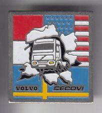 RARE PINS PIN'S .. CAMION TRUCK WAGEN VOLVO DRAPEAU FLAG AMERIQUE USA SUEDE ~DV