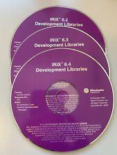 Sgi IRIX 6.2 6.3 6.4 Development Libraries Silicon Graphics 3 discs!