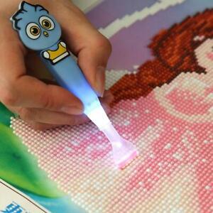5D DIY Diamond Painting Craft Needlework Tool Point Drill Pen with Light