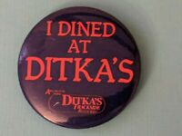 I Dined at Mike Ditka's Restaurant Pinback Chicago Bears Arlington Race Track