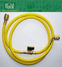 FRUSTA TUBO FLESSIBILE GAS R410 MT.1.5 CON RUBINETTO GIALLO 5/16''