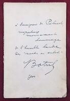 Théodore Botrel 1904 Coups de Clairon Rare autographe Chanson Dédicace