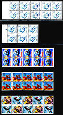 25c Booklet Panes: 17 Different, NH Mint