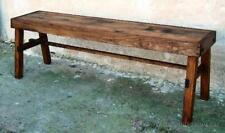 banco de madera rustico mueble , mide 150 cm de largo, matancero