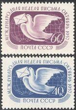 Rusia 1957 palomas mensajeras/Aves/Naturaleza/Correspondencia semana/animación 2 V n33113
