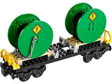 Lego Train City Cargo Freight Cable Reel Wagon Railway Town Set from 60052 NEW