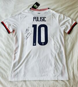 2021 Christian Pulisic Signed USA Jersey Soccer World Cup Chelsea W/PROOF*