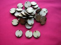 2cm / 20mm MDF CIRCLE /  DISC with 2 holes -  100 x LASER CUT WOODEN CRAFT SHAPE