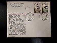 NIGER  99/100   PREMIER JOUR FDC      FAUNE , JABIRUS      5+7F      1960