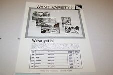 Vintage WARREN PAPER PRODUCTS - MURAL etc PUZZLES ad sheet #0228
