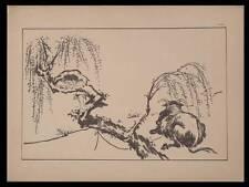 VACHE ET ENFANT, ITTHSHO - 1889 - JAPON,