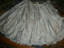WOMENS PLUS SIZE BEADED BRIDAL WEDDING DRESS SKIRT  EVENING  FORMAL  PROM  OOAK