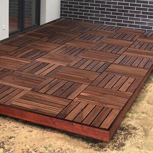 Interlocking Wooden Click Deck Decking Tiles Outdoor Balcony Wood Patio Garden