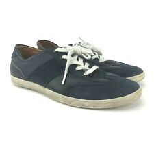 ECCO Mens EU Size 43 Blue Leather Suede Casual Oxford Sneakers