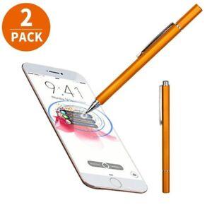 2xFine Point Round Thin Capacitive Stylus Pen for iPad 2/3/4/5/Air/Mini/iPhone