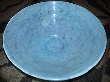 Hallmark LARGE BLUE GLASS BOWL Fruit Bowl POTPOURRI DISH Swirls COLLECTIBLE New