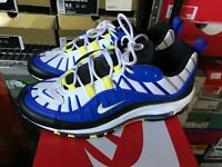 Mens Size 10 Nike Air Max 98 Racer Blue White Black 640744 400
