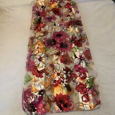 Vintage sheer raspberry white floral head scarf