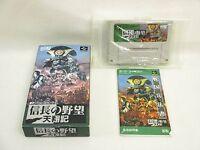 NOBUNAGA NO YABO Tensho Ki Ref/bcc Super Famicom Nintendo sf