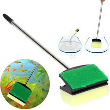 New Aquarium Glass Brush Cleaning Sponge Algae Scraper Fish Tank Steel Handle