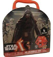 NEW Star Wars 3D Bubble Tin 4pc Set