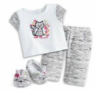 American Girl Bitty Baby Bitty Kitty PJ's Pajama Set ~New~ Retired Set~ No doll!