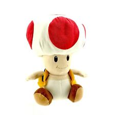 Toad Mushroom Plush Teddy Nintendo Super Mario Soft Stuffed Toy great Condition
