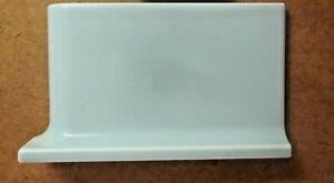 "Olean AO USA Ceramic 6-1/2"" Sky Blue Right Corner Wall Cove Base Radius Tile Cap"