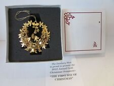 Danbury Mint Gold The First Day Of Christmas Ornament Boxed W/Certificate 2012