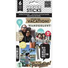 MAMBI Stickers - We're On Vacation 6 sheets Travel Holiday Trip
