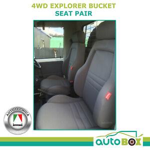 Black Explorer Bucket Seat for Landcruiser 75 78 79 Pair ADR App'd with Adaptors