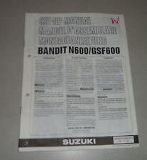Istruzioni di montaggio/set up manual SUZUKI BANDIT n600/gsf600 STAND 12/1994